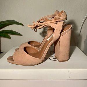 Steve Madden 'Serrina' block heel sandal camel 7.5